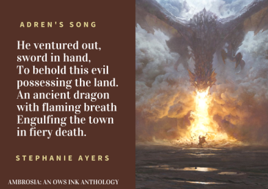 He ventured out, sword in hand,To behold this evil possessing the land.An ancient dragon with flaming breathEngulfing the town in fiery death..png